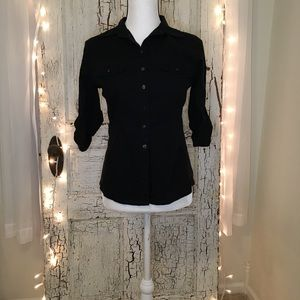 Converse Button Up Side Stretch Panels Shirt